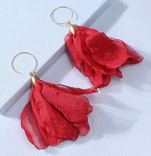 Earrings- Paris Red