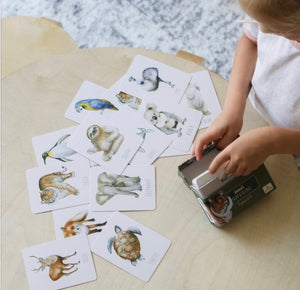 Animal snap and go fish game set