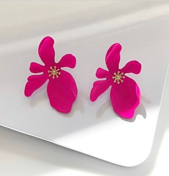 Earrings- Valerie Hot Pink