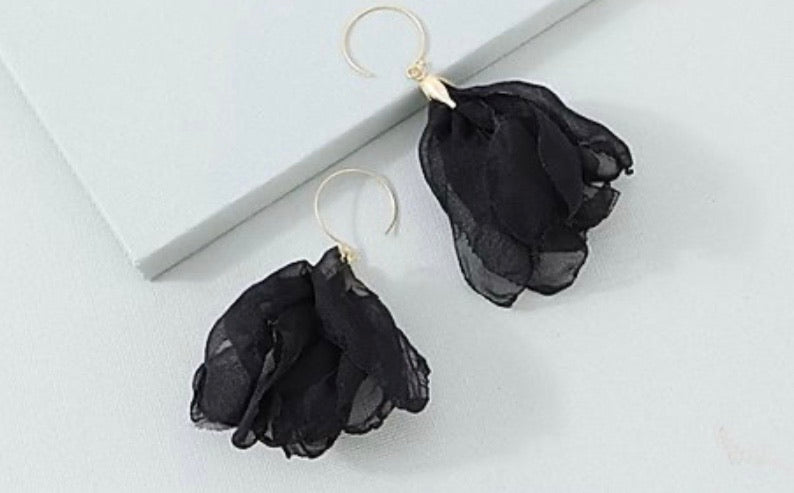 Earrings- Paris Black
