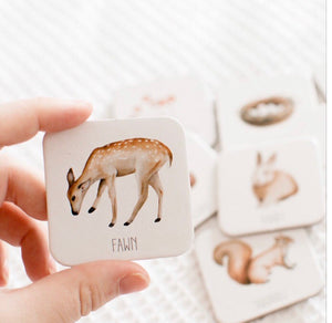 Woodland fawn memory card