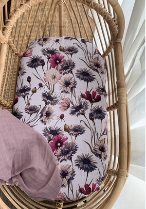 Floral all about aster organic bassinet sheet