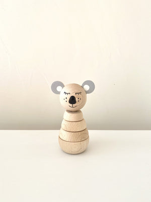 Koala wooden stacker puzzle