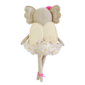 Koala Doll with Angel Wings and flower in her hair