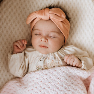 Peach Topknot Headband