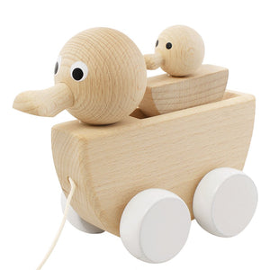 Wooden pull along duck and duckling