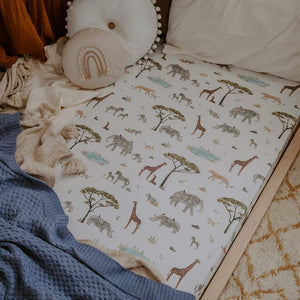 African Safari Cot Sheet by Snuggle Hunny Kids