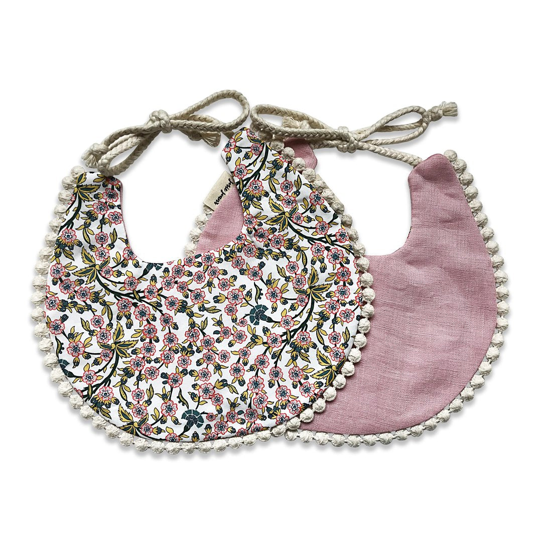 Pink and Liberty print Bib