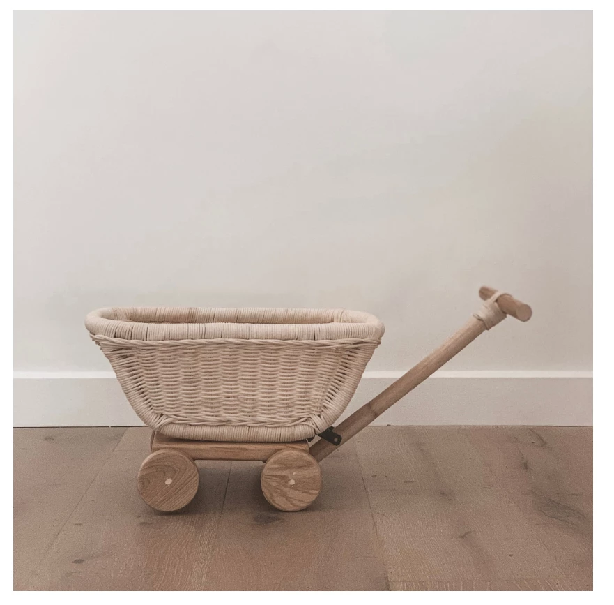 Tiny Harlow Rattan Toy Wagon, The Little Bird's Shop