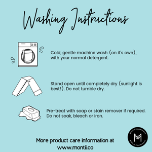 Instructions for washing insulated lunchbags