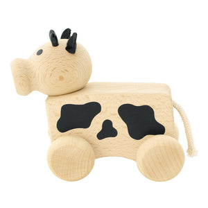 Wooden toy cow