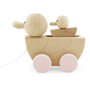 Wooden Pull along wooden duck