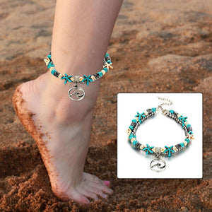Bohemian Wave Anklets For Women Vintage Multi Layer Bead Anklet Leg  Bracelet Sandals Boho DIY Summer Charm Jewelry Foot Chian 663a1e675545