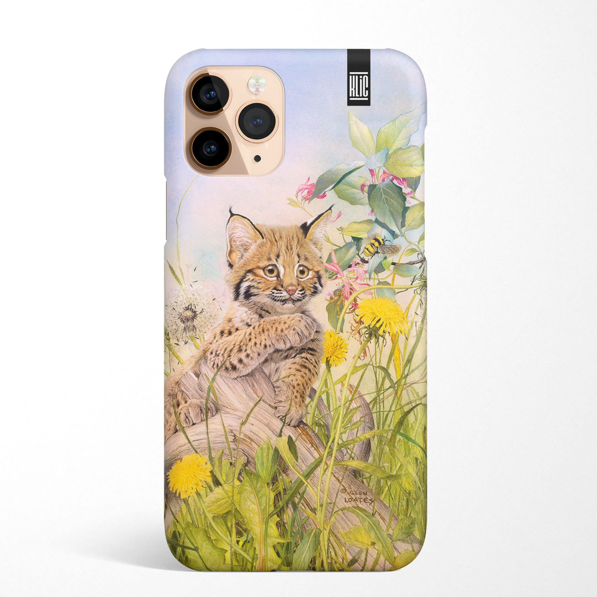 Cougar with bumble bee on a Glen Loates KLiC phone case