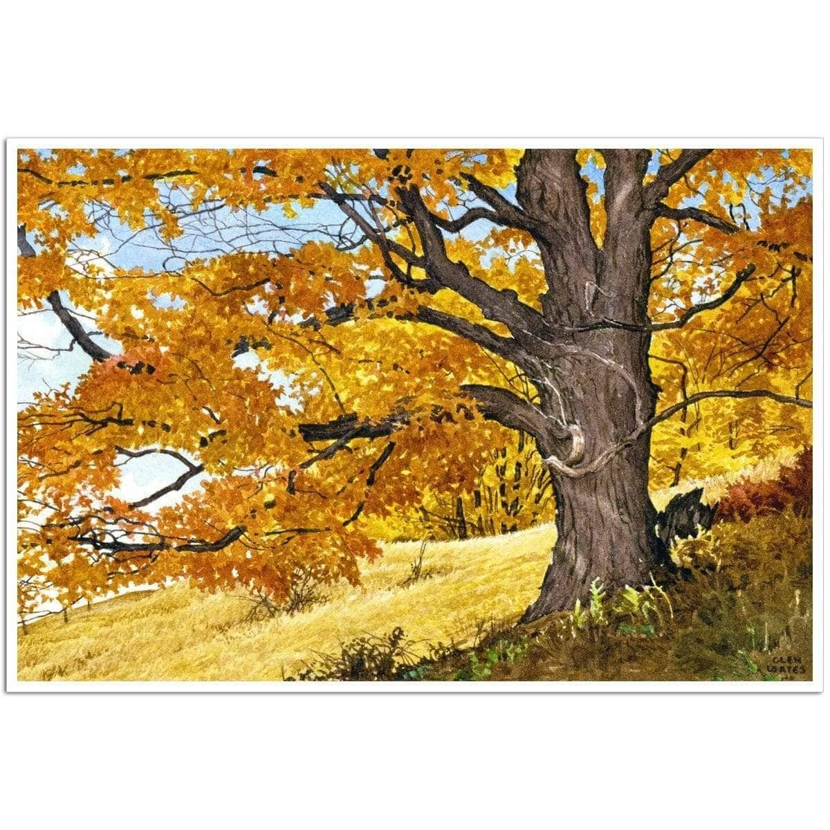 Autumn Day - Art Print by Glen Loates from the Glen Loates Store