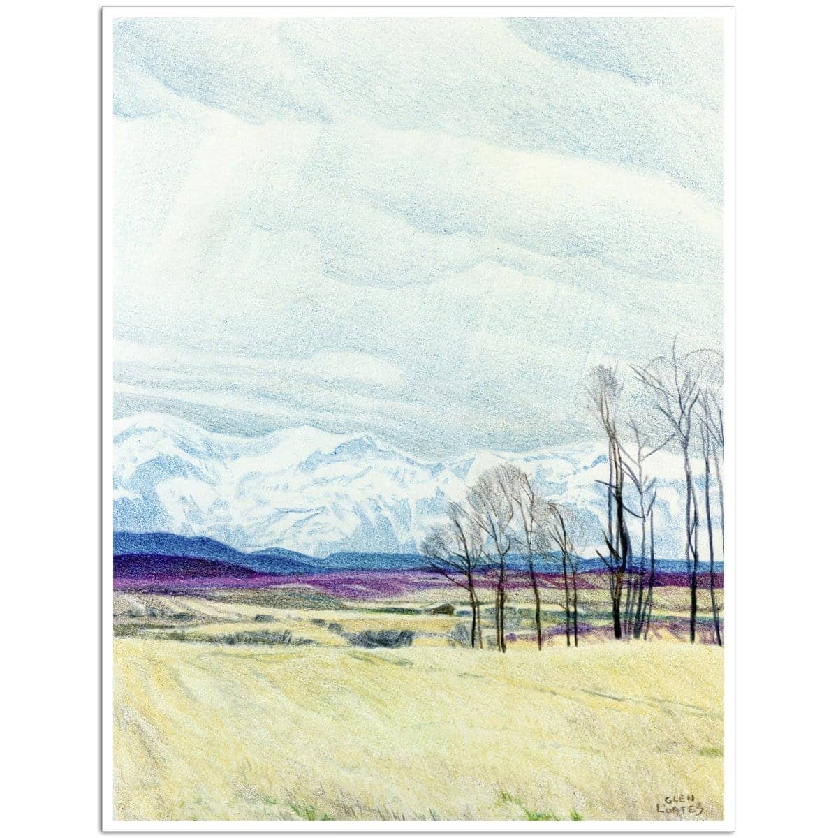 Calgary Foothills - Art Print by Glen Loates from the Glen Loates Store