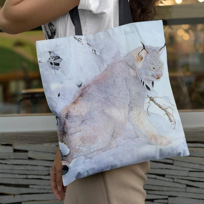 Canada Lynx - Tote Bag by Glen Loates from the Glen Loates Store