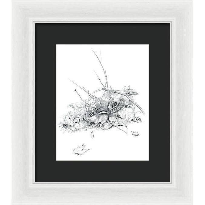 Chipmunk - Framed Print - The Official Glen Loates Store