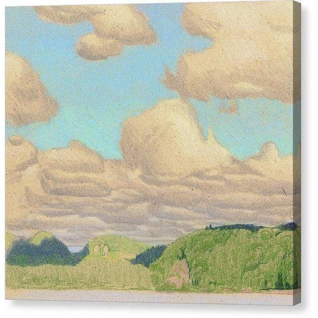 Drag Lake Cloud Study - Canvas Print by Glen Loates from the Glen Loates Store