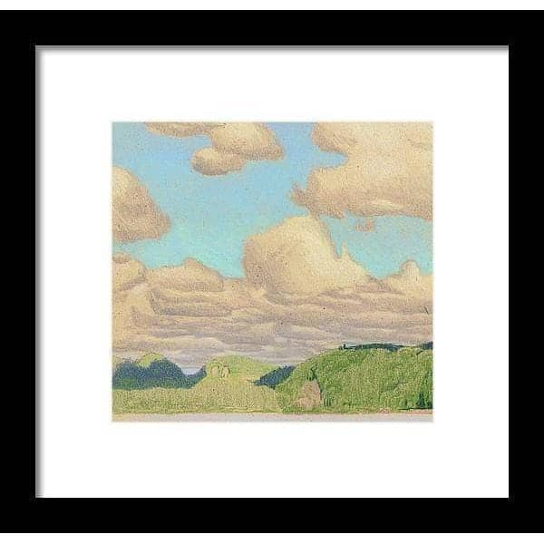 Drag Lake Cloud Study - Framed Print by Glen Loates from the Glen Loates Store
