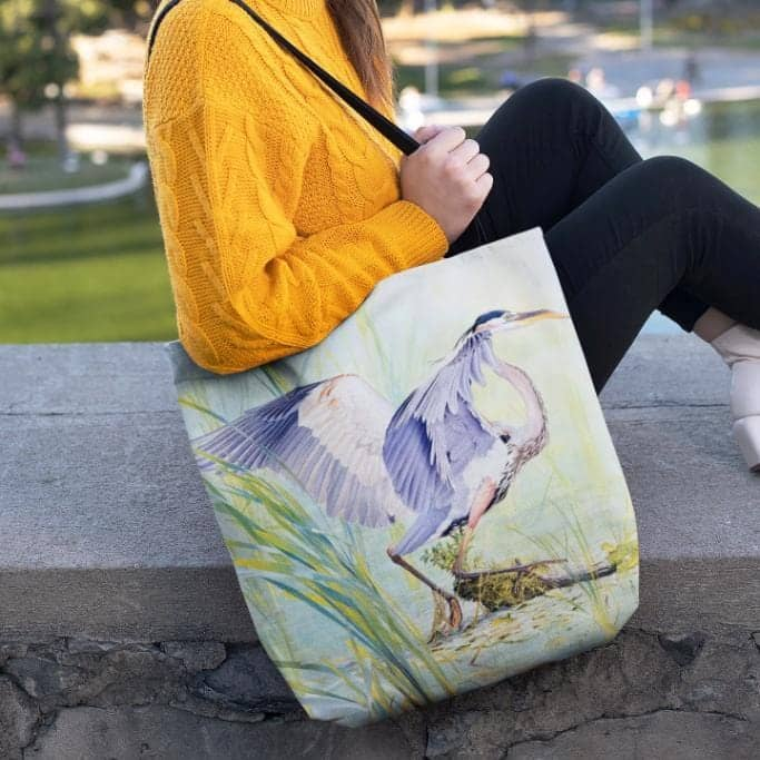 Great Blue Heron - Tote Bag by Glen Loates from the Glen Loates Store
