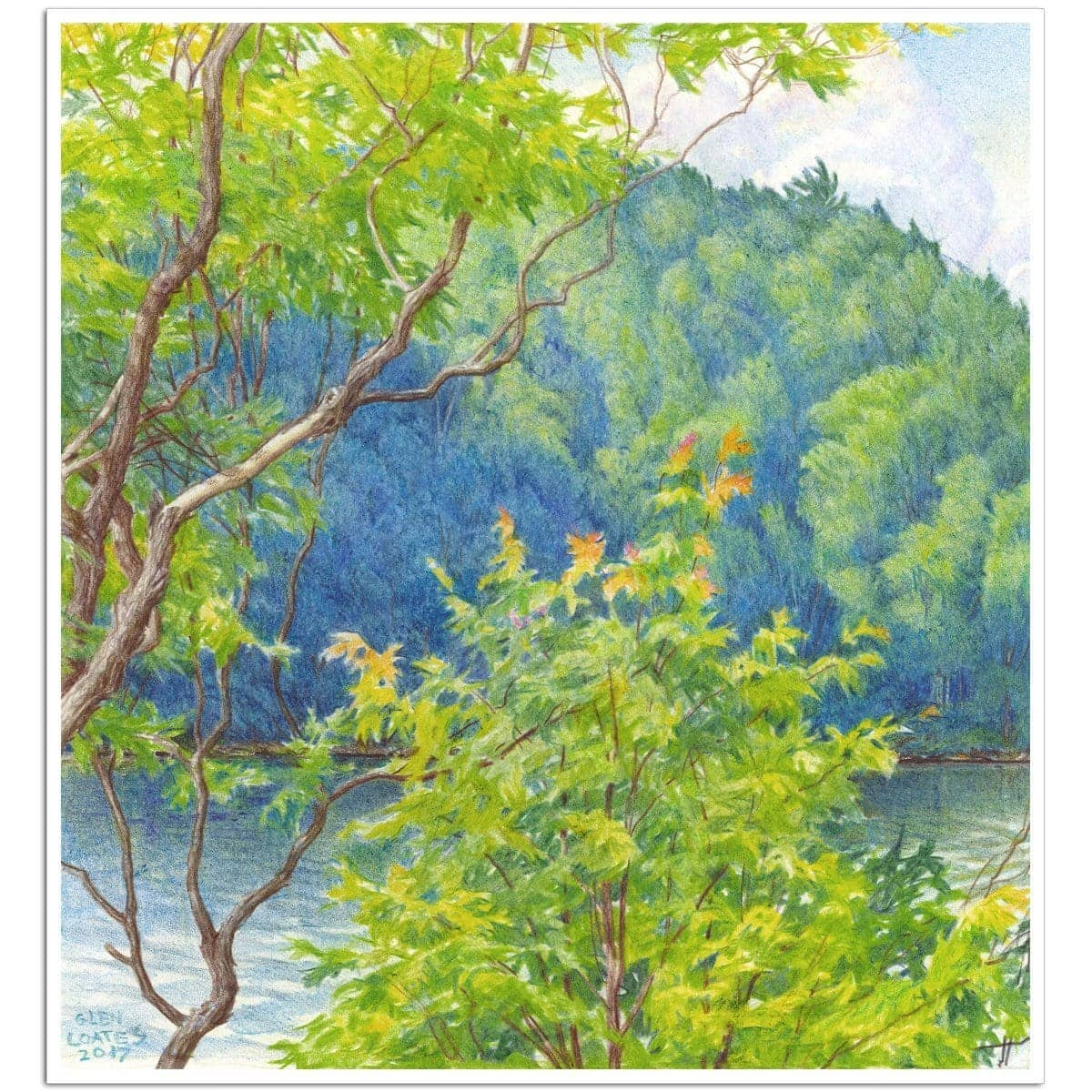 Humid Afternoon At Drag Lake - Art Print by Glen Loates from the Glen Loates Store