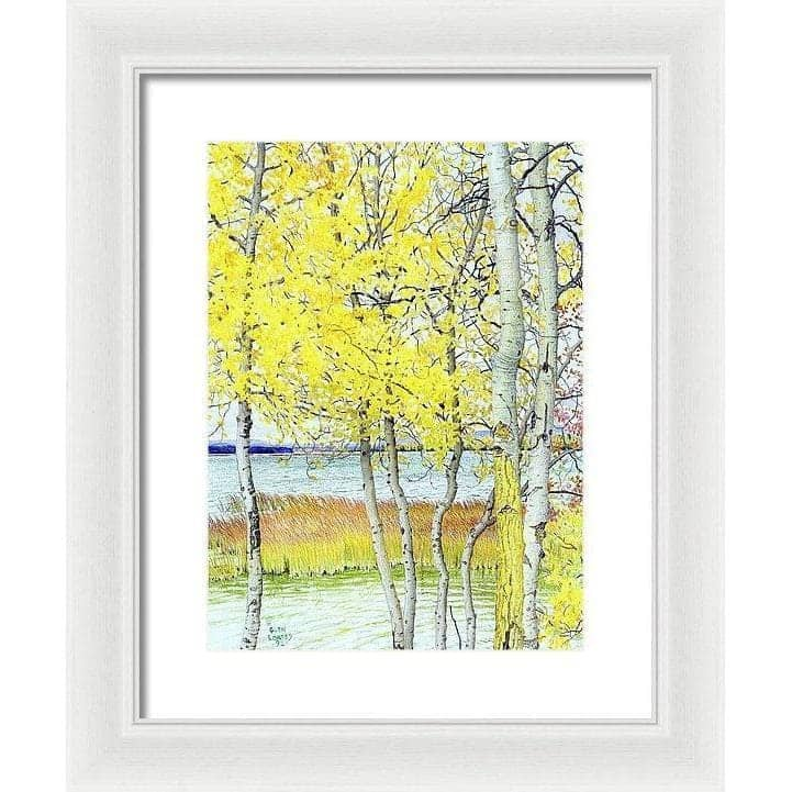 Lac Cardinal Peace River - Framed Print-Framed Print-The Official Glen Loates Store