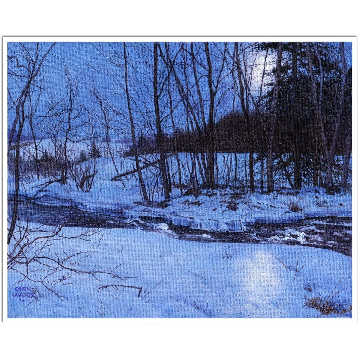 Moonlit Landscape - Art Print by Glen Loates from the Glen Loates Store