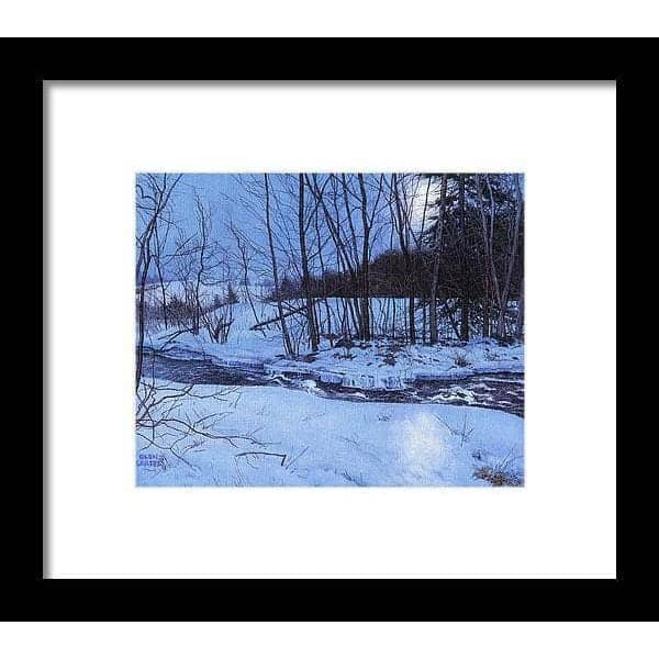 Moonlit Landscape - Framed Print by Glen Loates from the Glen Loates Store
