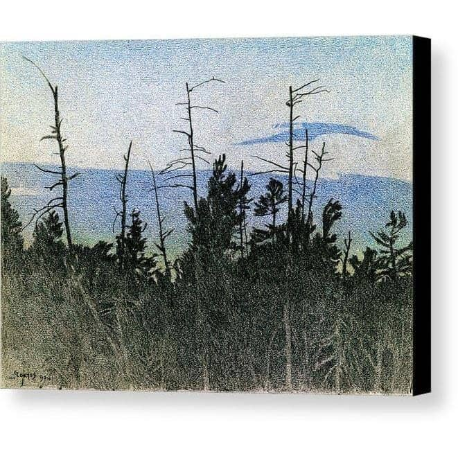 Over Twilight - Canvas Print by Glen Loates from the Glen Loates Store