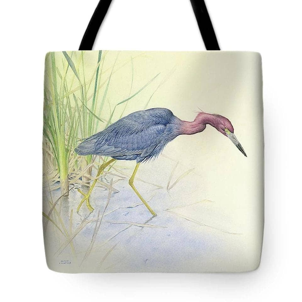 Purple Heron - Tote Bag by Glen Loates from the Glen Loates Store