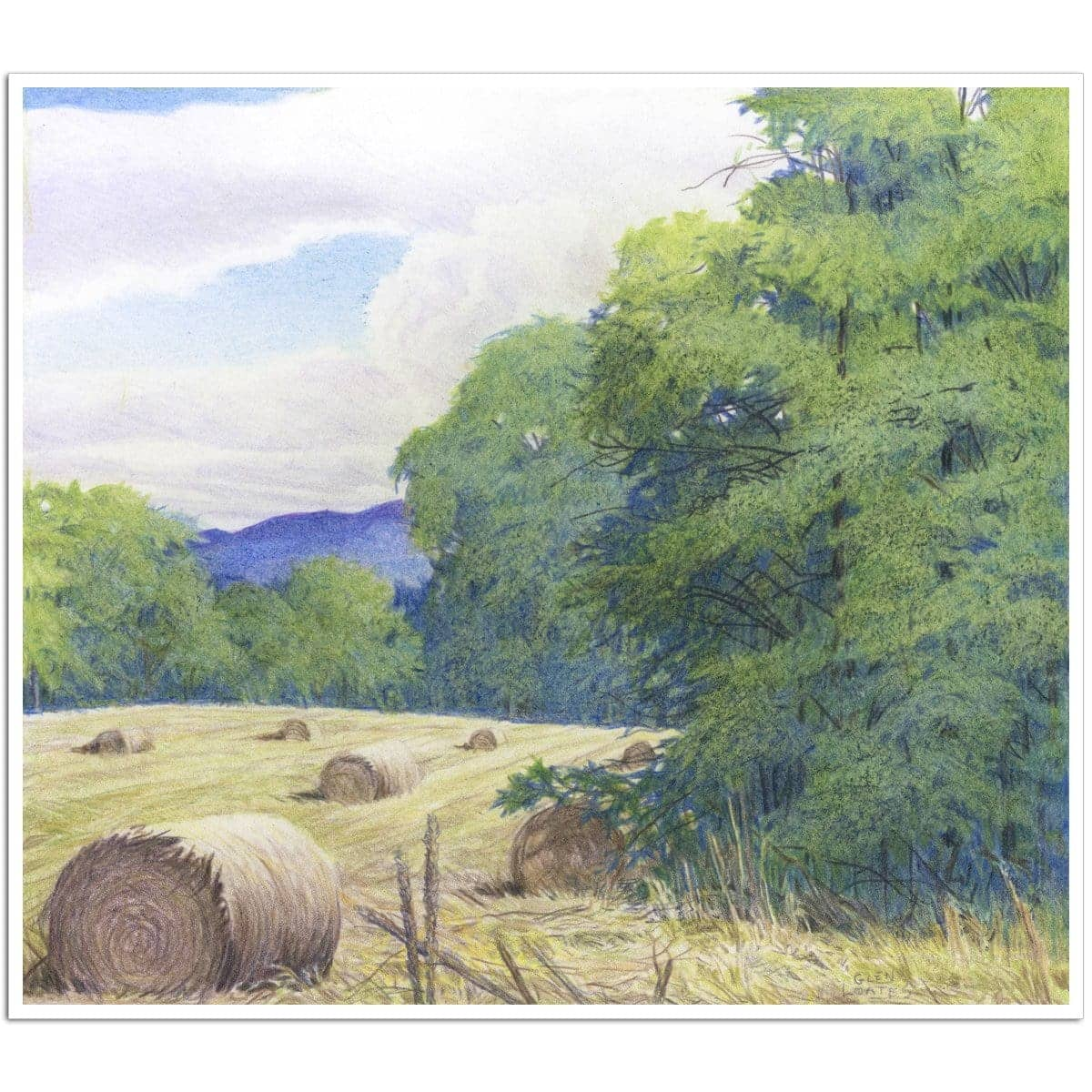 Purple Hills - Art Print by Glen Loates from the Glen Loates Store
