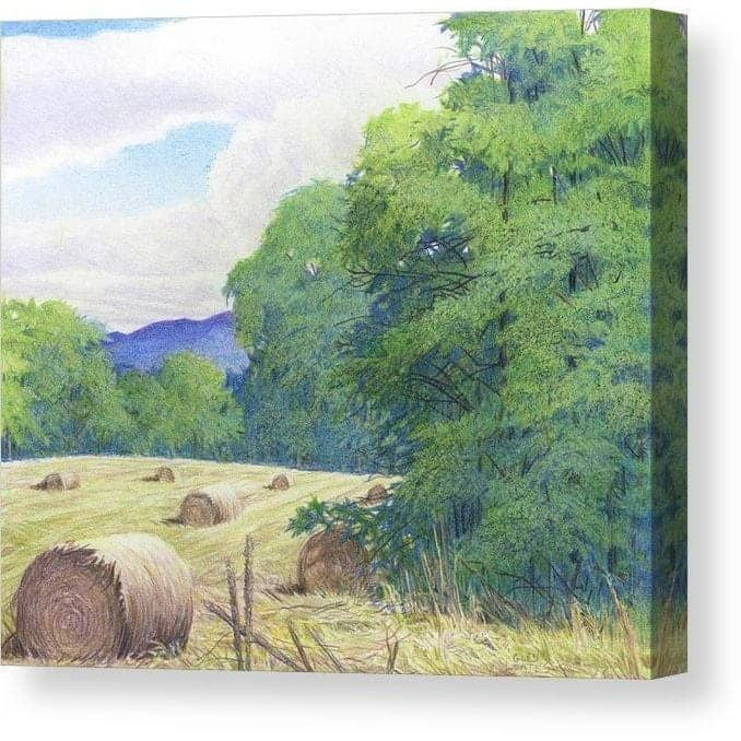 Purple Hills - Canvas Print by Glen Loates from the Glen Loates Store
