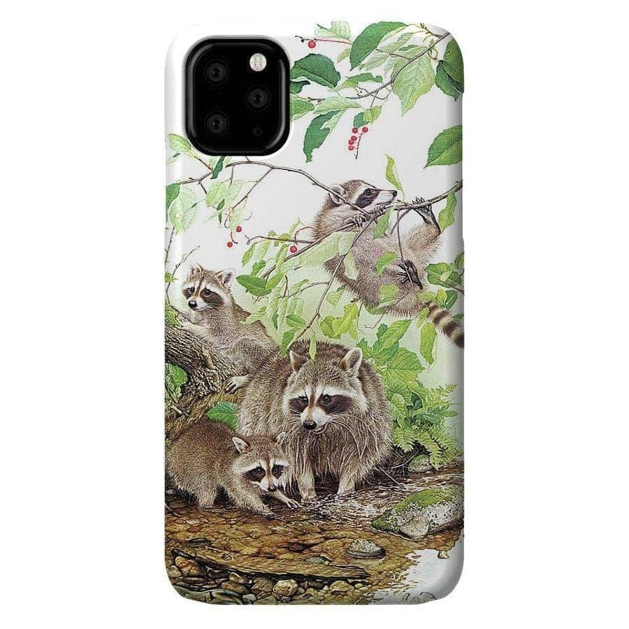 Raccoon Family - Phone Case by Glen Loates from the Glen Loates Store