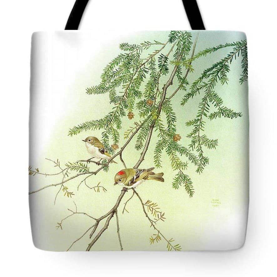 Ruby Crowned Kinglet - Tote Bag