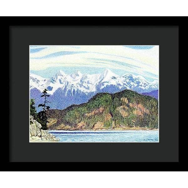 Snow Capped Mountains in British Columbia - Framed Print - The Official Glen Loates Store