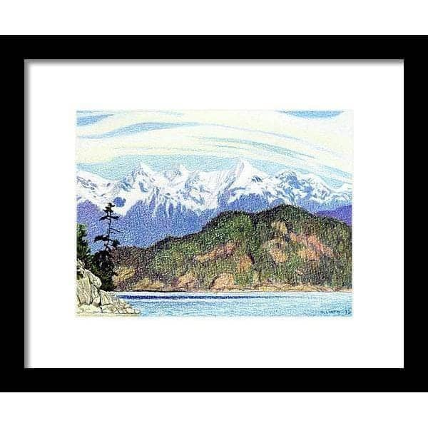 Snow Capped Mountains in British Columbia - Framed Print by Glen Loates from the Glen Loates Store