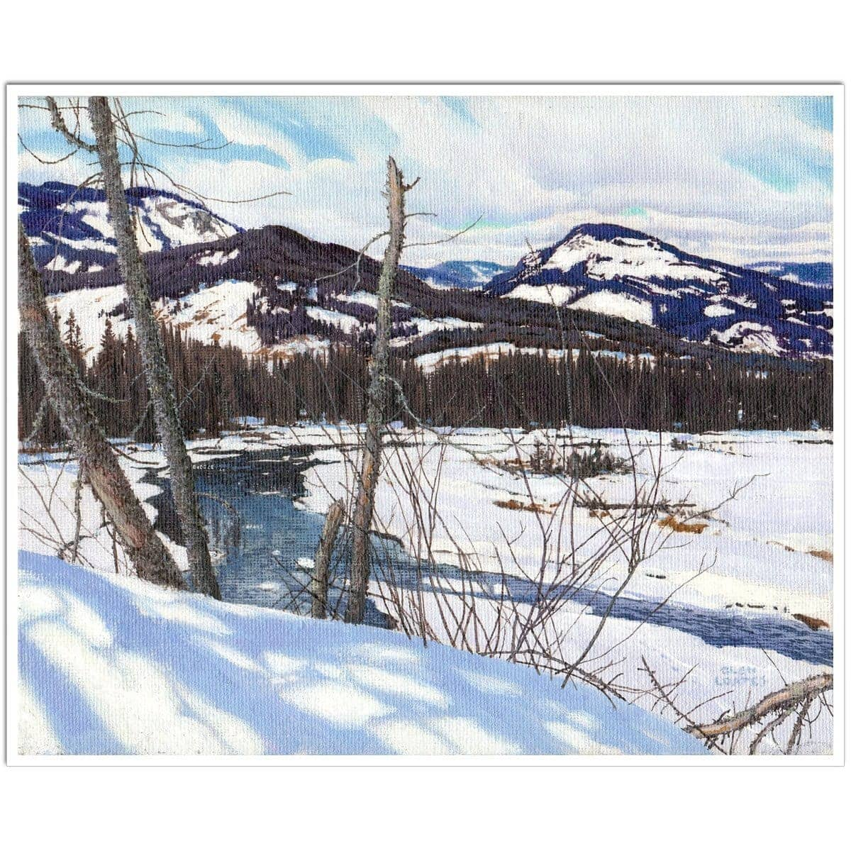Snow-covered Landscape - Art Print by Glen Loates from the Glen Loates Store