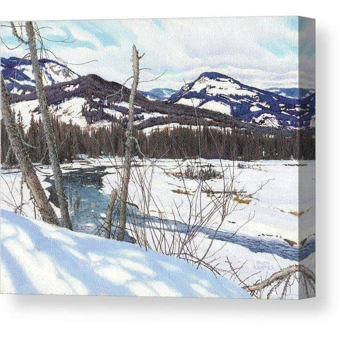 Snow-covered Landscape - Canvas Print by Glen Loates from the Glen Loates Store