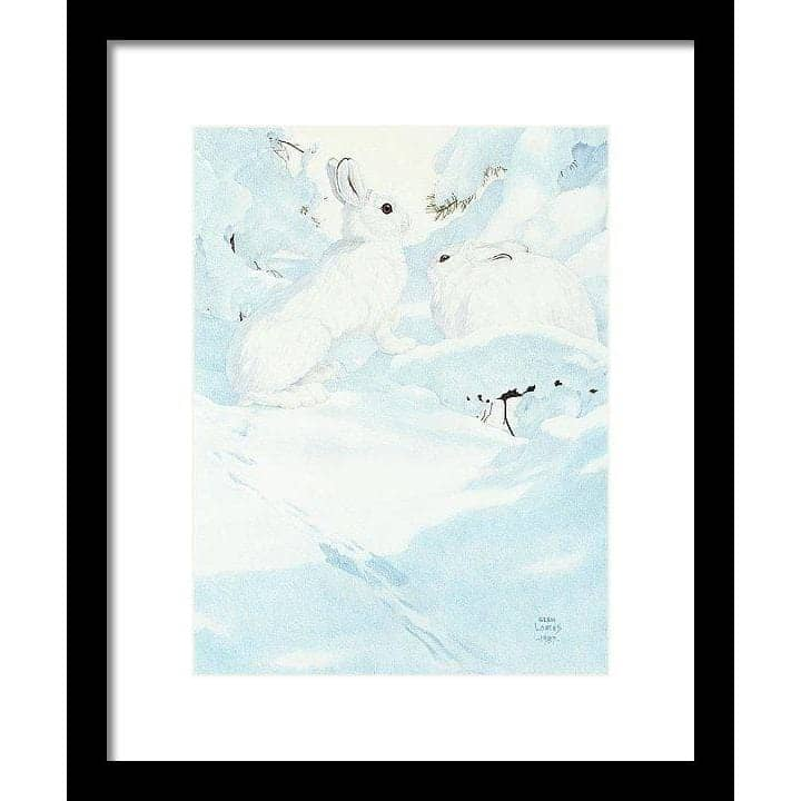Snowshoe Hare - Framed Print-Framed Print-The Official Glen Loates Store