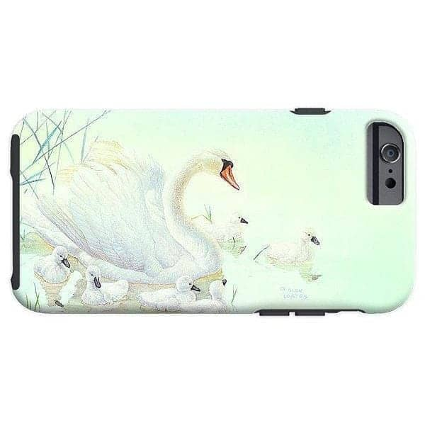 Swan Family - Phone Case by Glen Loates from the Glen Loates Store