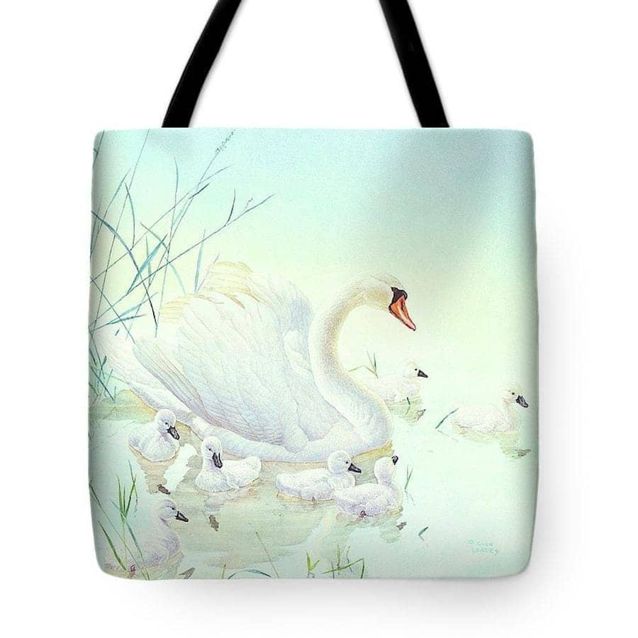 Swan Family - Tote Bag by Glen Loates from the Glen Loates Store
