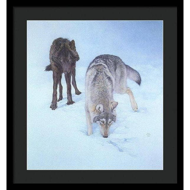 Tracking The Scent - Framed Print-Framed Print-The Official Glen Loates Store