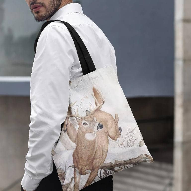 White-tailed Deer - Tote Bag by Glen Loates from the Glen Loates Store