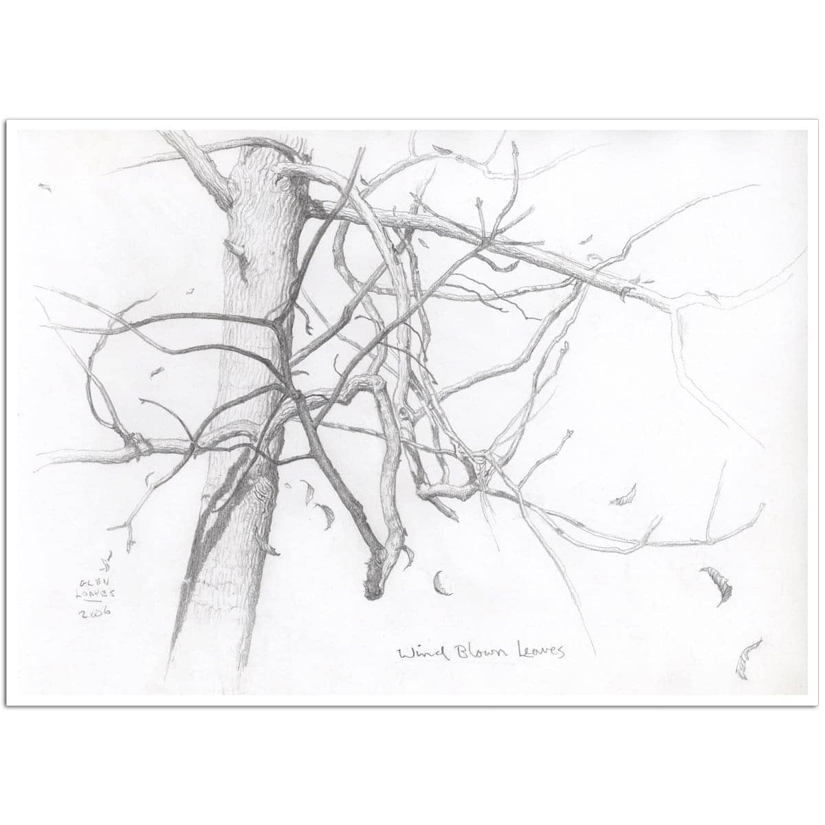 Wind Blown Leaves - Art Print by Glen Loates from the Glen Loates Store