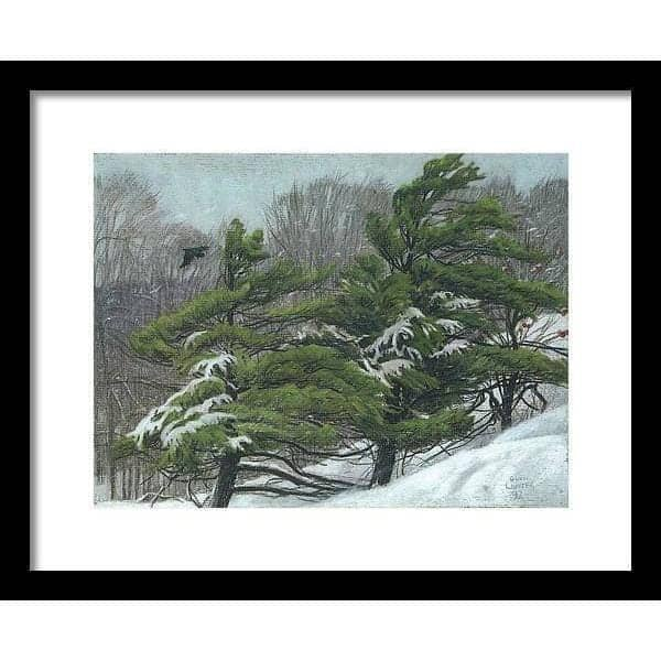 Winter Storm - Framed Print by Glen Loates from the Glen Loates Store