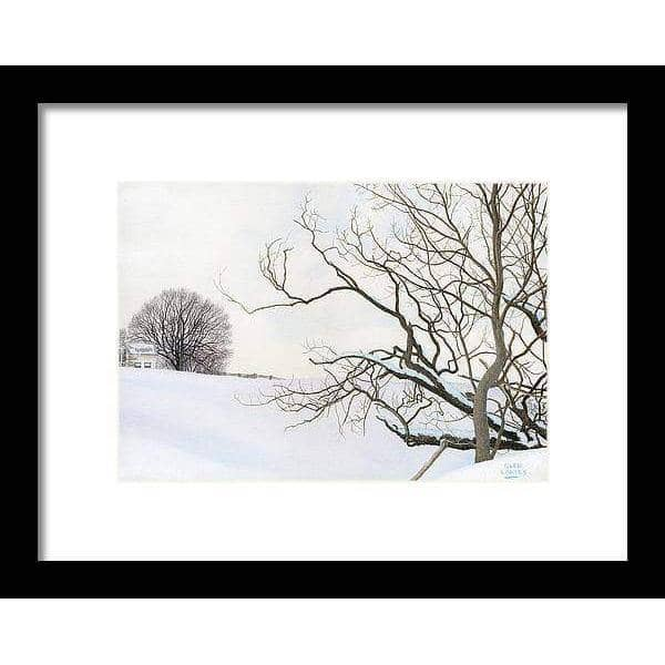 Winter White with Purple Martin House - Framed Print - The Official Glen Loates Store