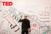 At TED, it's encouraged to draw on the walls