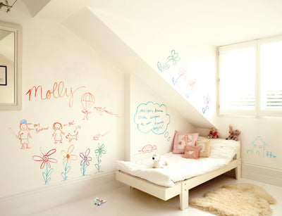 Crayola® Dry Erase Wall Paint Clear - IdeaPaint US Bedroom