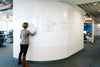 Write Dry Erase Wallcovering Roll - IdeaPaint US in use at an office